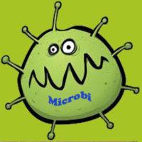logo microbi verde con scritta